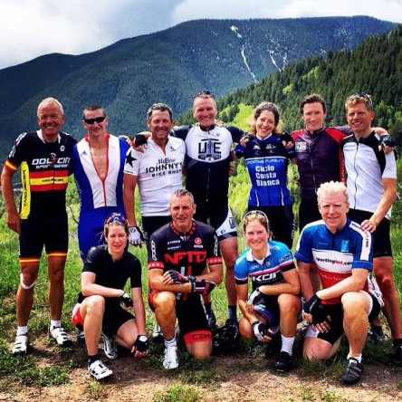 The group at the top of the Ruedi Reservoir Climb.